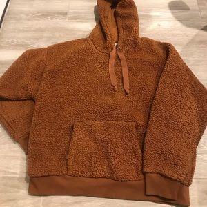 AE Sherpa/Fleece Rust Orange Hoody Size XL